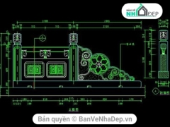 File cad thiết kế lan can sắt chi tiết